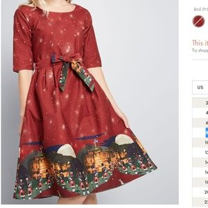 UK Print Dress from Palava by Modcloth with pocket